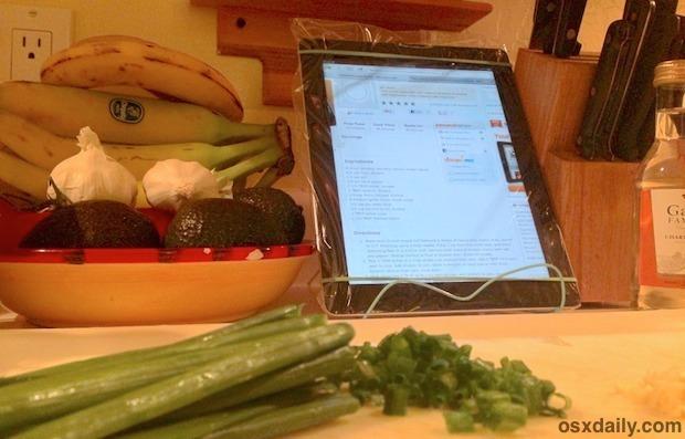 L'iPad con cerniera lampo in cucina è ottimo per proteggere dagli schizzi e dagli schizzi