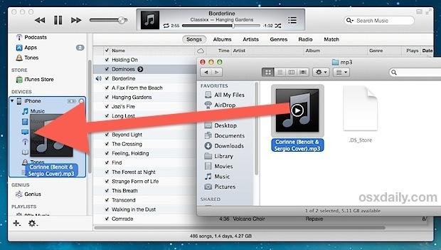 Copia una canzone su un iPhone / iPod senza aggiungere alla libreria di iTunes
