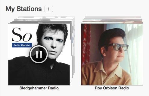 Riproduzione di una stazione radio iTunes appena creata