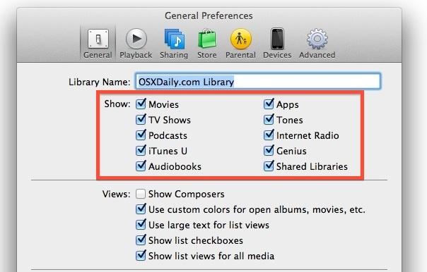 Controlla cosa c'è nella barra laterale di iTunes