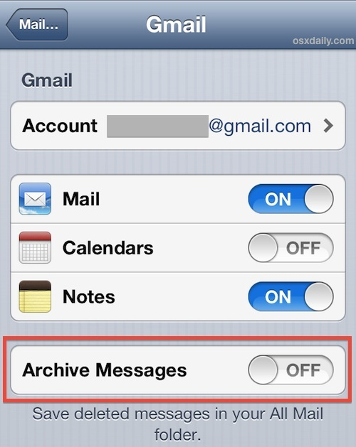 Abilita il pulsante Elimina posta in iOS