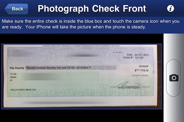 Depositare un assegno da un iPhone
