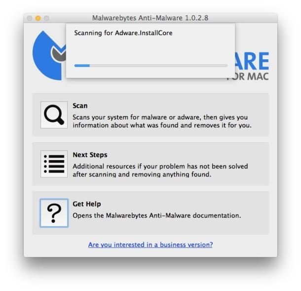 Scanner di malware adware in Mac OS X di MalwareBytes