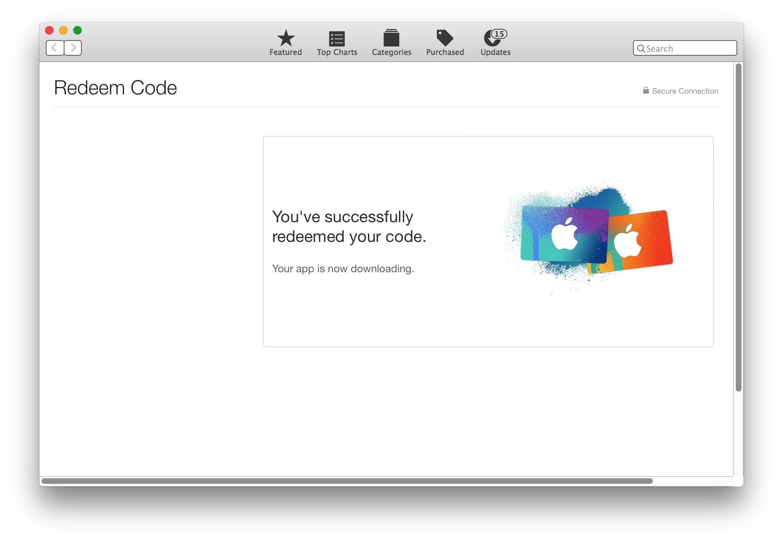 Codice riscattato per macOS Sierra
