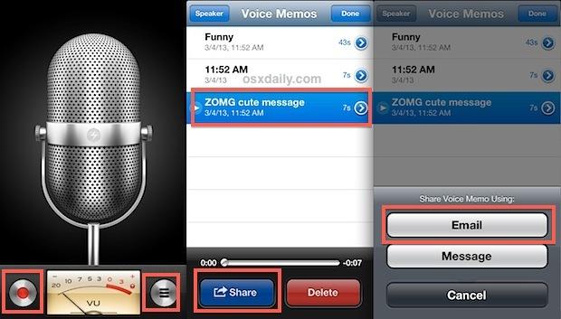 Trasferisci il memo vocale da un iPhone al computer