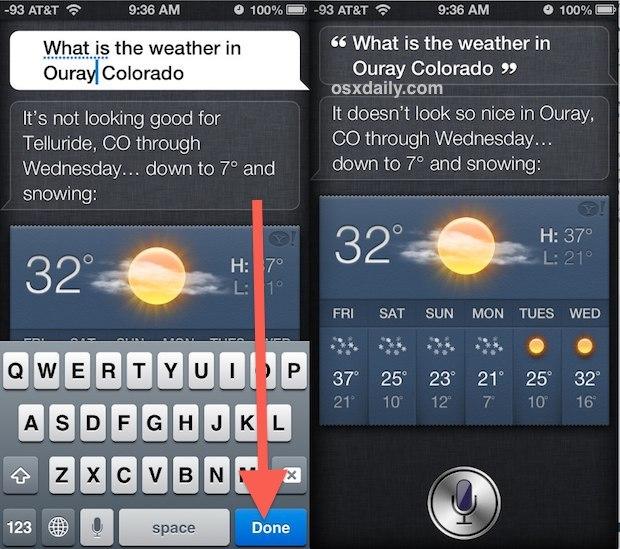 Modifica il comando Siri e cerca di nuovo