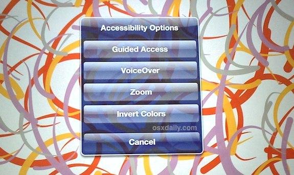 Attiva l'accesso guidato in iOS