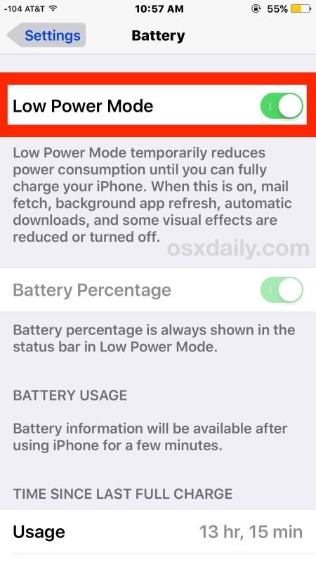 Abilita la modalità di risparmio energetico su iPhone per preservare la durata della batteria tremendamente