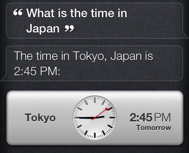 Comando e risposta di Siri