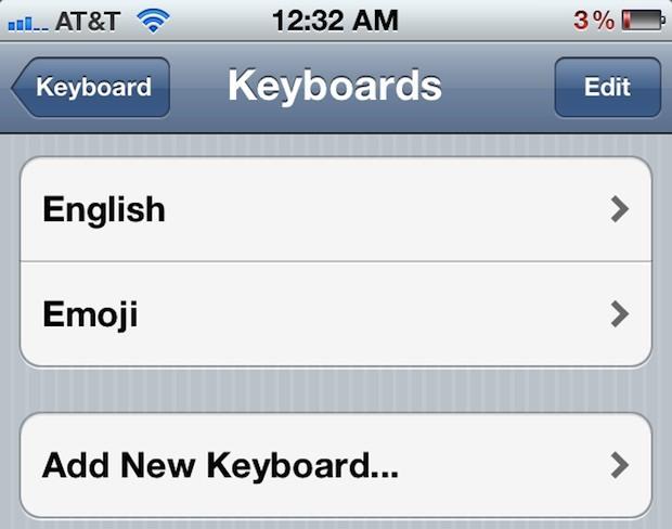 Aggiungi la tastiera Emoji a iPhone