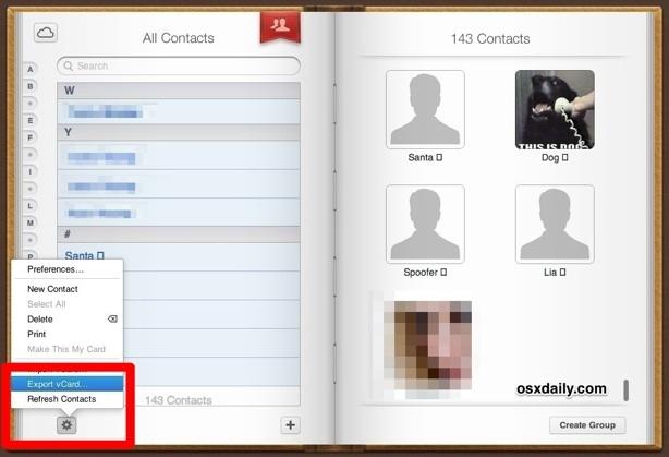 Esportare tutti i contatti iPhone da iCloud