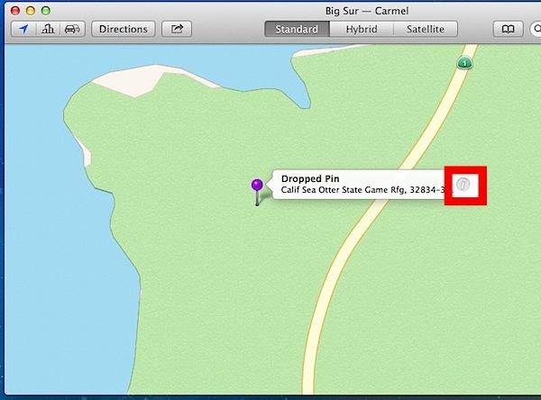 Ottieni informazioni sulla posizione nell'app Maps