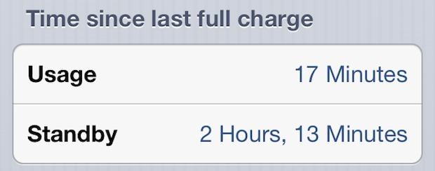 La durata della batteria di iPhone è indicata