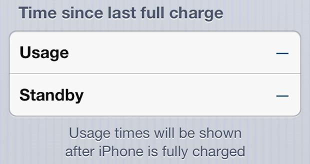 Indicatori di utilizzo della durata della batteria di iPhone in bianco