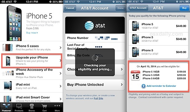 Controlla l'idoneità all'upgrade di iphone e ricevi un promemoria