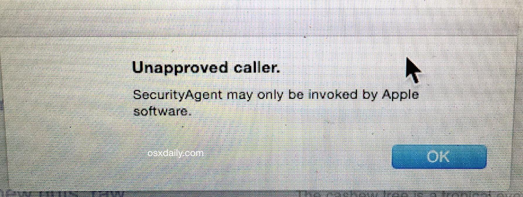 non approvato-caller-SecurityAgent-messaggio-mac-os-x