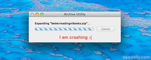 correzione per quando Archive Utility non funziona