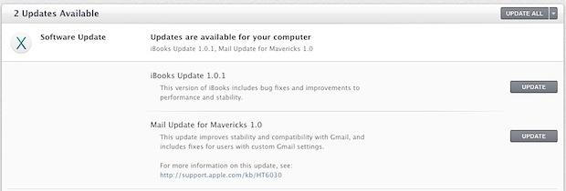 Mail Update for Mavericks risolve molti bug