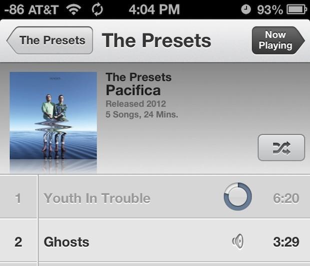 Correzione di brani grigi nell'app iOS Music