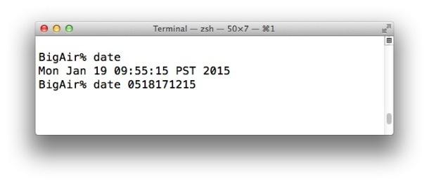 Imposta manualmente la data e l'ora in OS X per aggirare i messaggi di errore durante l'installazione di Mac OS X.