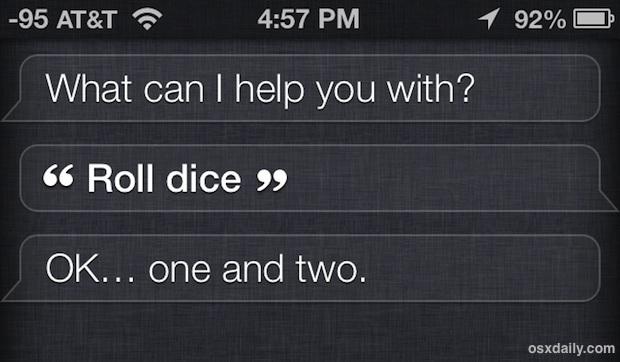 Tira i dadi con Siri