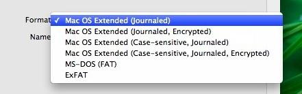 Formato su file system Mac