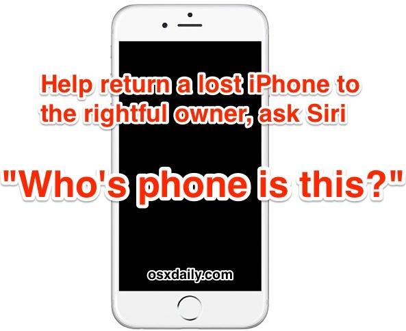 Aiuta a restituire un iPhone trovato al proprietario con Siri