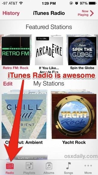 Streaming musicale di iTunes Radio