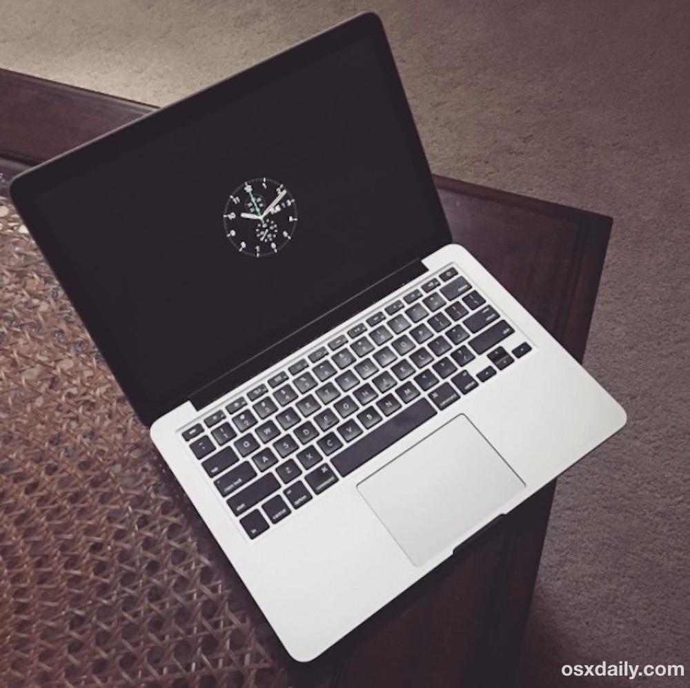 Apple Watch screen saver su un Mac