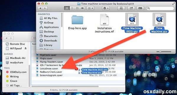 Installazione manuale dei salvaschermo nella cartella della libreria utente OS X