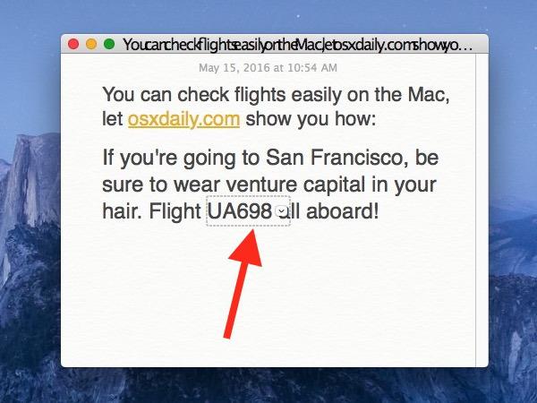 Cerca la modifica del rilevatore di dati e fai clic sul numero del volo