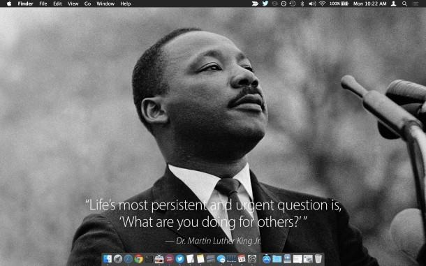 Preventivo per la carta da parati MLK Jr su un Mac