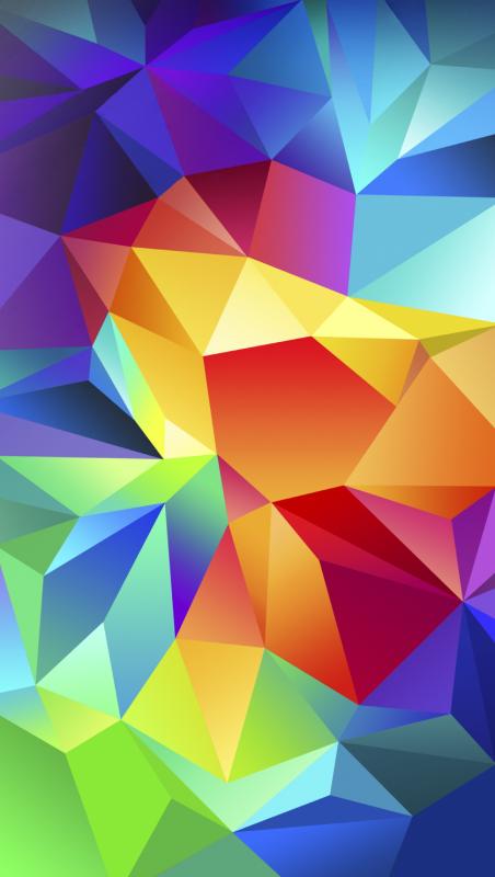 Lo sfondo multicolore Samsung Galaxy S5