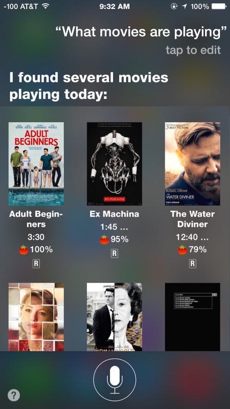 Scopri quali film stanno giocando con Siri