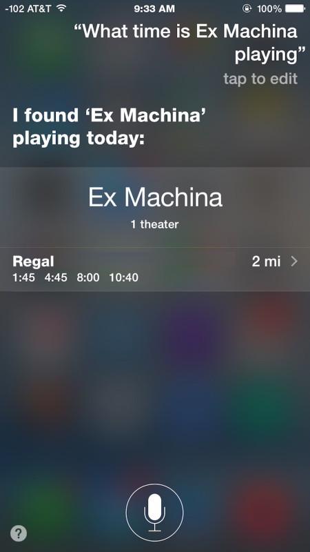 A che ora è un film specifico che gioca con Siri