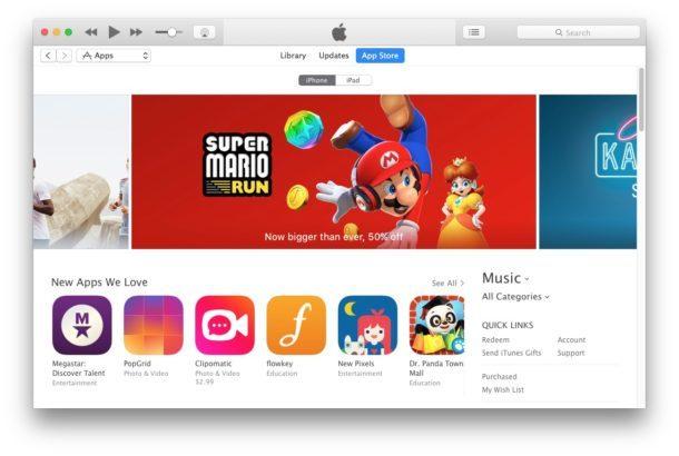 iTunes con App Store