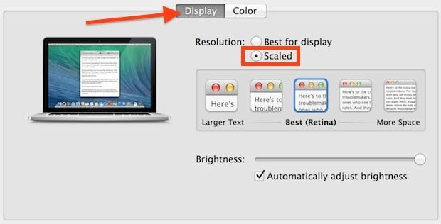 Retina Mac risoluzioni dello schermo