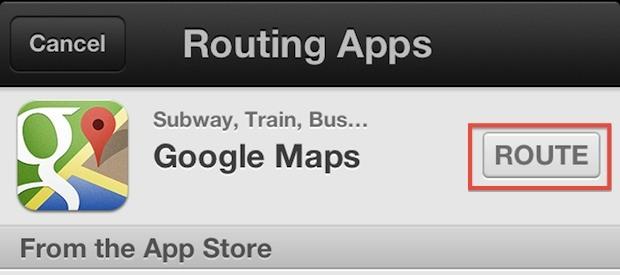 Instradare le mappe tramite Google