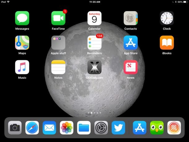 Sfondo di iPad Moon da iOS 11 su iPad