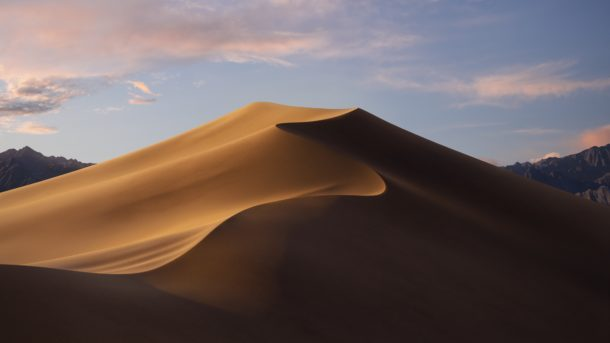 Sfondo predefinito MacOS Mojave per tema diurno e luce