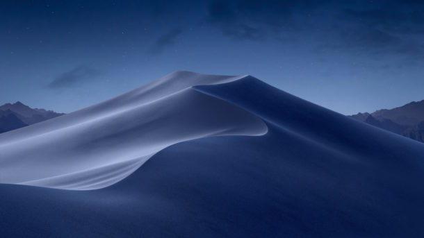 macOS Mojave night wallpaper più blu e più leggero