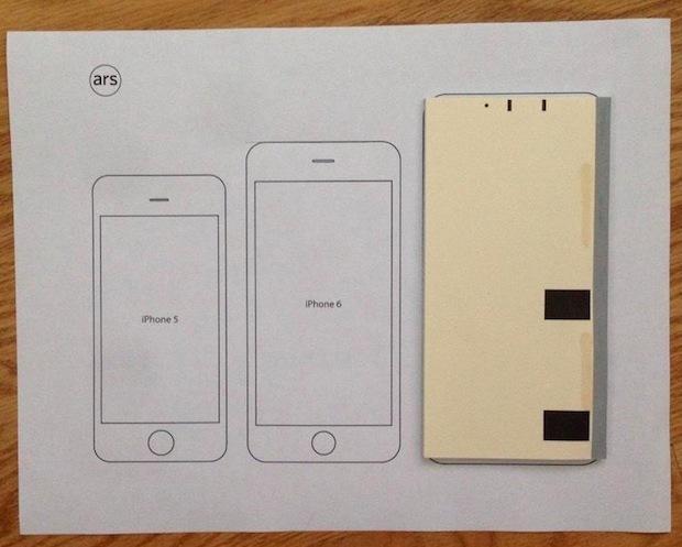 iPhone 6 Plus ha le dimensioni di una serie di assegni da un libretto degli assegni