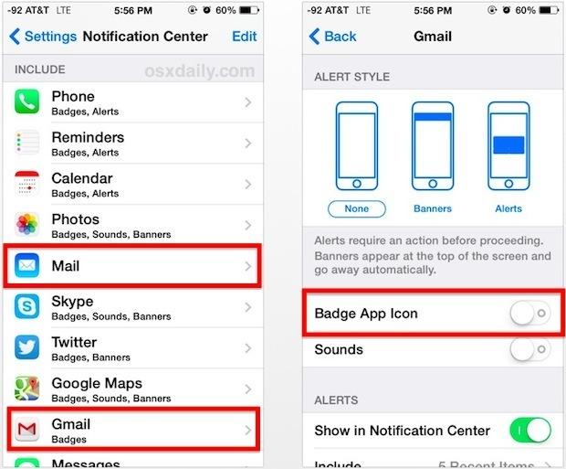 Disattiva il numero di posta non letta sulle icone di posta elettronica di iOS