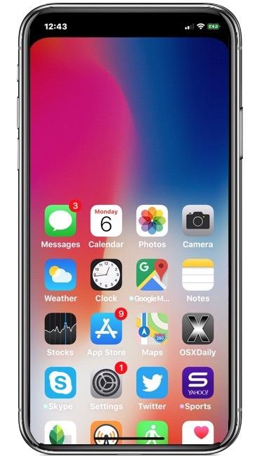 Utilizzo di Raggiungibilità su iPhone X