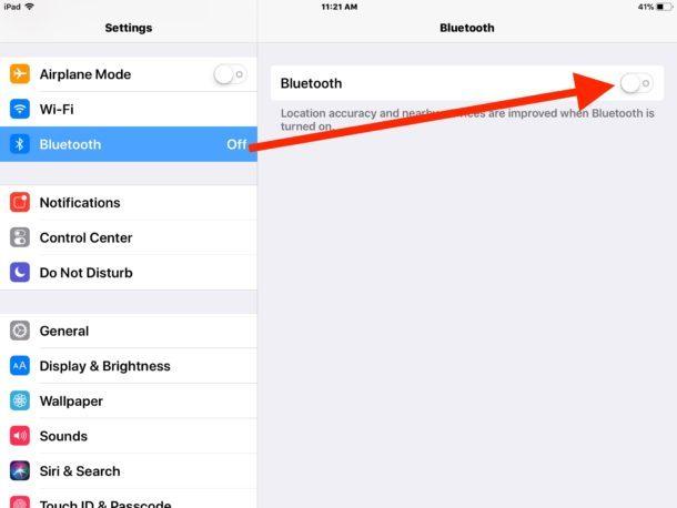 Come disabilitare il Bluetooth in iOS 11