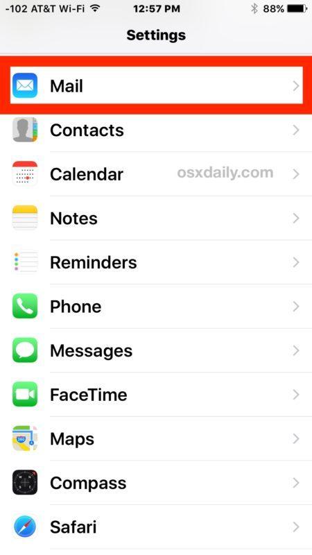Aggiungi un nuovo account e-mail a iOS