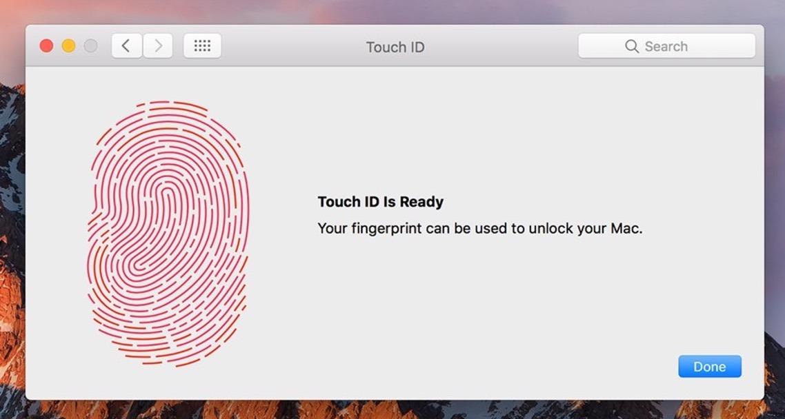 Aggiungi nuove impronte digitali a Touch ID su Mac