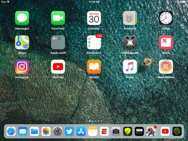 15 app totali nel Dock di iPad