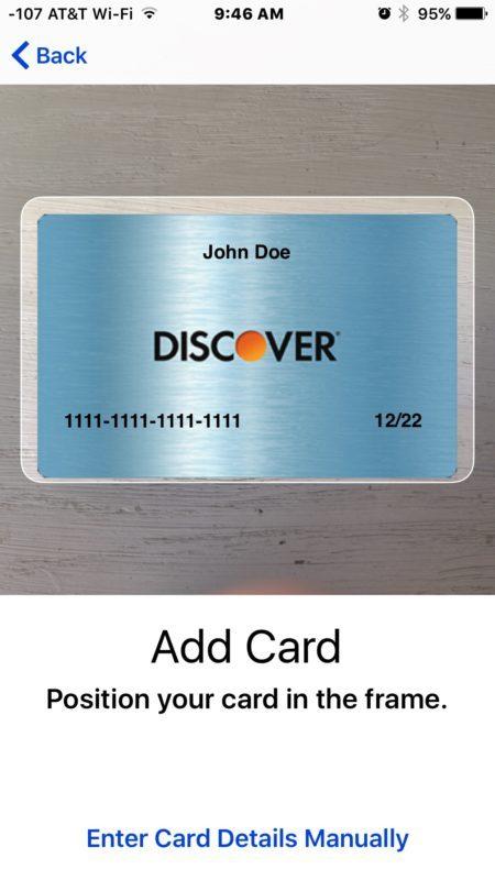 Aggiungi nuove carte ad Apple Pay