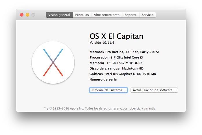Modificata la lingua su un Mac